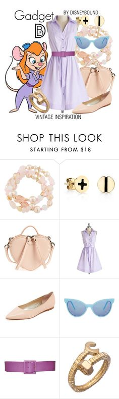 """Gadget"" by leslieakay ❤ liked on Polyvore featuring Carolee, Marc Jacobs, Sam Edelman, Wildfox, Yves Saint Laurent, Blu Bijoux, vintage, disney and disneybound"