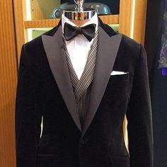 Velvet black tie at Paul Stuart NYC.