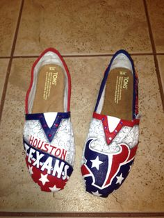 Houston Texans hand painted TOMS by solespirit on Etsy, $130.00