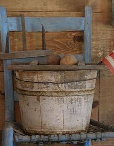 Every good country home needs a wood bucket...well, actually about ten! :  ) Come visit us at Sweet Liberty Homestead http://www.picturetrail.com/sweetliberty We're gearing up to make primitives again!!!