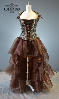 steampunk dress-renaissance-burning man-alternative-wedding