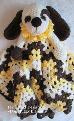 Dog Huggy Blanket Crochet Pattern by Teri Crews Wool and Whims PDF Format New Pattern.