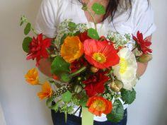 Poppy Wedding Bouquet | Wedding, Flowers, Red, Orange, Poppy, Dahlia, Bridal bouquet, Studio ... Vibrant color!!