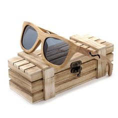 BOBO BIRD Brand Polar Unique Retro Sunglasses Women Handmade Bamboo Wood Sun glasses Men as Gift Vingtage Oculos Masculino 2017