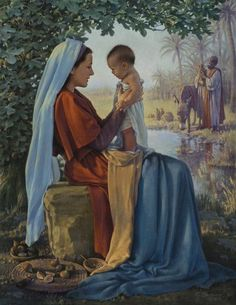 pictures of holy family with blessed mother sleeping and st joseph playing with child jesus - Bing images Religious Pictures, Jesus Pictures, Baby Pictures, Blessed Mother Mary, Blessed Virgin Mary, Mother Son, Jesus Mother, Catholic Art, Religious Art