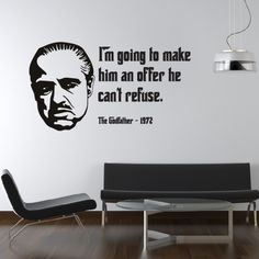 Iu0027m going to make him a offer Wall Sticker The Godfather Wall Art  sc 1 st  Pinterest : scarface wall decal - www.pureclipart.com