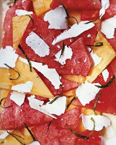 Minted Watermelon Salad with Ricotta Salata & Sea Salt