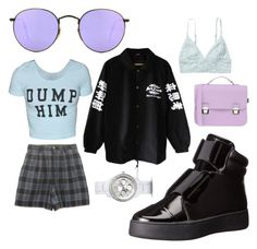 """""""Untitled #40"""" by belabelistic ❤ liked on Polyvore featuring La Cartella, Ray-Ban, Ateljé 71, Monki and FOSSIL"""