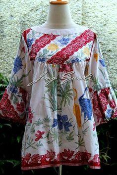 Bfgb Blouse Batik, Batik Dress, Sleeve Designs, Blouse Designs, Batik Fashion, Women's Fashion, Kurti Sleeves Design, Batik Kebaya, Frock Design