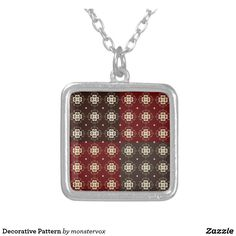 Decorative Pattern Silver Plated Necklace #Decorative #Design #Pattern #Zazzle #Fashion #Necklace #Silver