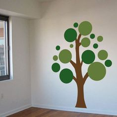 idea pintar árbol pared