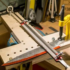 Bevel grinding jig by Aaron Gough - Messer - Diy