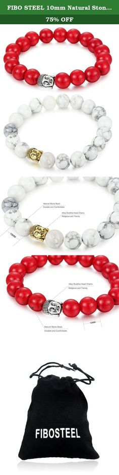 FIBO STEEL 10mm Natural Stone Beaded Bracelet for Men Buddha Bracelet Religious Elastic 2Pcs. FIBO STEEL - I never wanted to be your whole life. Just your favorite part. FIBO STEEL main engage in selling all kinds of high quality stainless steel jewelry at affordable price. Best shopping experience is our main goal that we try our best to arrive all the time. Fibo Steel - Do what we say, say what we do. In order to let you have a happy shopping experience,we have done and will do as…