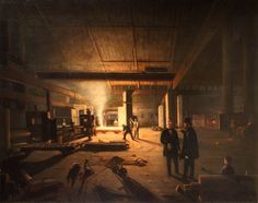 Interior of a Rolling Mill - Godfrey Sykes (1824–1866)