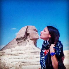 I have to admit, you're a good kisser my dear Sphinx! Good Kisser, Giza, Cairo, Kisses, Travelling, Faces, Happiness, Memories, Instagram Posts