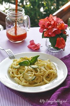 Фетучини в сливочном соусе. #food, #pasta