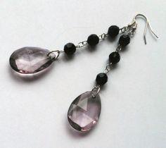 Eco friendly dangle earrings  Repurposed beads by ReuseandRenew, kr85.00