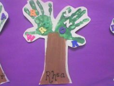 Read Chicka Chicka Boom Boom and Make their own Handprint Trees