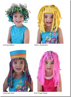 Hacer pelucas de papel para disfraz | idisfraz
