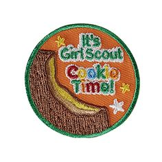 Sew-On Twill & Embroidered Patch. All Fun Patches are unofficial and are not to be worn on the front of the Girl Scout sash, vest or tunic. All fun patch designs are exclusively owned by Girl Scouts of the USA. Girl Scout Sash, Girl Scouts, Cookie Time, Cool Patches, Patch Design, Girl Scout Cookies, Badges, Usa, Girl Guides
