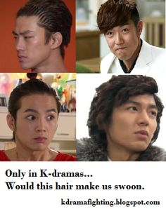 #kdramafighting #kdramahumor. I don't know what the first picture is from but the others are Master's Sun, You're Beautiful, and of course the infamous curly-headed Goo Jun Pyo (Lee Min Ho) from Boys Over Flowers.
