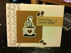 Handmade card by Brenna Lynn. Latte Love stamp set by Fiskars.