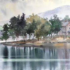 Шотландия#vscomoscow #купитькартину#акварель#акварельнаятехника#пейзаж#watercolor #watercolortechnique#landscape#scotland #wayercolorart #watercolor_gallery #art #watercolorartists