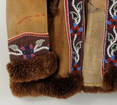 Lot: Inuit Beaded Moose Hide & Velvet Jacket, Lot Number: 0180, Starting Bid: $200, Auctioneer: Schwenke Auctioneers , Auction: Americana/Native American Arts Estate Auction, Date: March 8th, 2015 MDT
