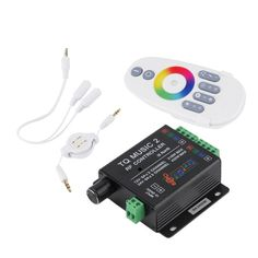 DC12-24V 18A RGB Music Sound Controller with RF Wireless Remote for RGB LED Strip Light