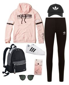 """""""Untitled #840"""" by lindskat on Polyvore featuring Hollister Co., adidas Originals, adidas, Spitfire, Topshop and NIKE"""