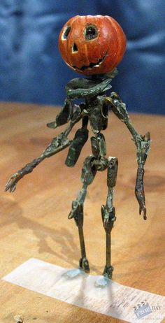 Stop Motion Puppets | Jack Pumpkinhead Stop-Motion Puppet Movie Prop from Return to Oz (1985 ...
