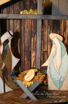 Laura Denison as Following the Paper Trail with a Nativity project; Dec 2013
