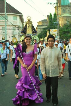 Our Lady's Maiden by Earl Robin, via Flickr Filipiniana Wedding, Filipiniana Dress, Filipina, Traditional Dresses, Robin, Harajuku, Asian, Culture, Gowns