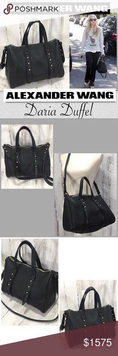 Alexander Wang Daria Duffel Bag Purse Tote Beautiful Alexander Wang bag.  Carried by celebs including 1b8a536bfc966