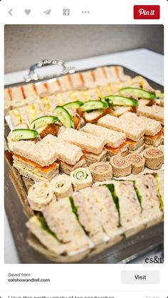 38 Tea Sandwiches That Are Tiny, but Delicious . - - 38 Tea Sandwiches That Are Tiny, but Delicious … Appetizers 38 Tee-Sandwiches, die winzig, aber lecker sind … Tapas, Snacks Für Party, Tea Party Foods, Party Trays, Food For Tea Party, Lunch Party Ideas, Party Food Ideas, Fancy Party Food, Party Food Buffet