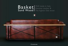 Bemiel Union_Sand Wood Sofa#Italy Leather#Mable Brown#Back#3.5p www.bemiel.com