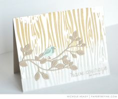 Have Courage Card by Nichole Heady for Papertrey Ink (March 2017)