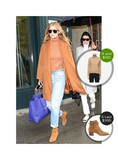Gigi Hadid In NYC with Kendall Jenner - seen in Saint Laurent. #saintlaurent  #gigihadid #kendalljenner @dejamoda