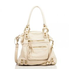 Leather bad in sand (Dylan medium tote)