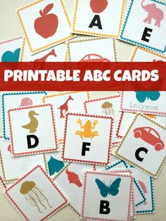 Printable ABC Letter Cards from Lalymom - Three different print options means you can make flashcards, memory match cards and magic reveal cards! Great for playful learning, summer learning and homeschooling!