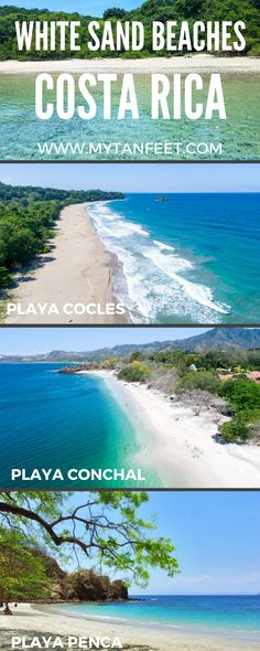 Our favorite white sand beaches in Costa Rica, click through to read:https://mytanfeet.com/costa-rica-beach-information/white-sand-beaches-costa-rica/ Costa Rica   Costa Rica beaches   Costa Rica travel blog