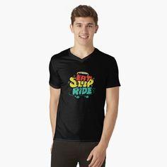 T Shirt Col V, V Neck T Shirt, Branded T Shirts, Printed Shirts, Surf, Black And White T Shirts, Cute Tshirts, Christmas Shirts, Tshirt Colors