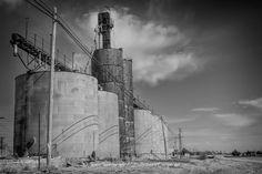 Abandoned Grain Elevators in abandoned Megragel, Texas