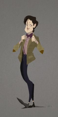 This captures Matt Smith's Doctor Who persona perfectly!