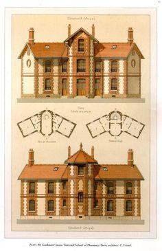 — Victorian architecture details (p… – Haus 255 - architecture house Victorian Architecture, Classical Architecture, Art And Architecture, Architecture Details, Victorian House Plans, Vintage House Plans, Victorian Homes, Victorian Decor, The Plan