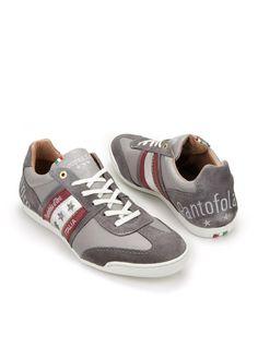 27608f2f702 Grijze sneakers van Pantofola d'Oro. Deze sneakers hebben een bovenwerk  gemaakt van leer