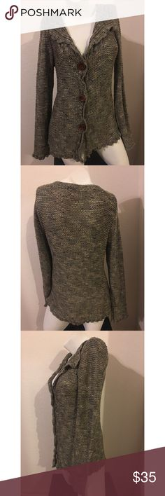 WHBM olive Cardigan sweater L White House Black Market cardigan. Purchased removed tags and have never worn. NWOT size large. White House Black Market Sweaters Cardigans