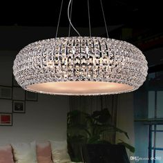 Crystal Pendant Lamp 650mm 500mm 400mm 350mm Diameter Circle Ceiling Light Modern Droplight Chandelier LED Hanging Light New Online with $140.65/Piece on Ok360's Store | DHgate.com