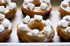 Peanut Butter Fluff Doughnuts