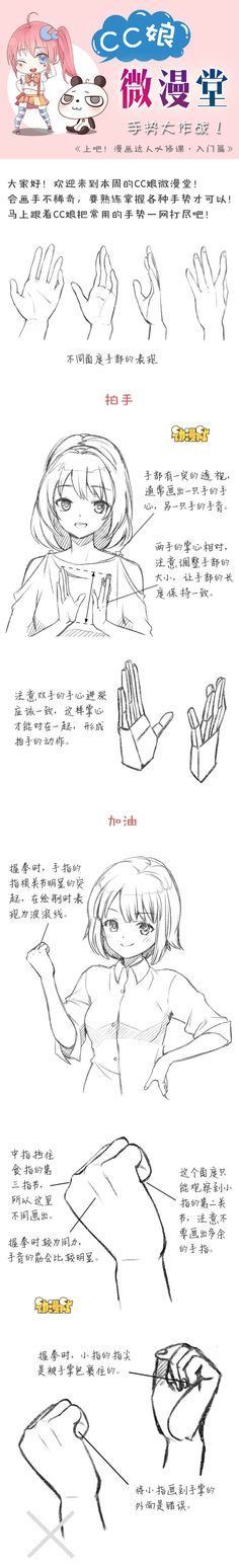 Hands position - Lets draw pin